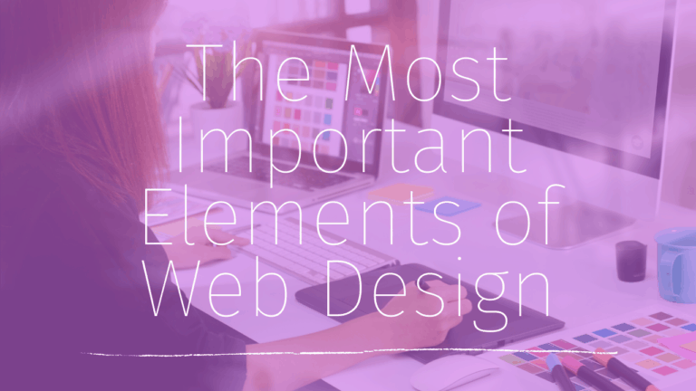 what are the most important elements of web design